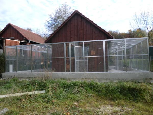 Hühnergehege volierenbau mönning voliere käfig gehege volierenbau volierenelement